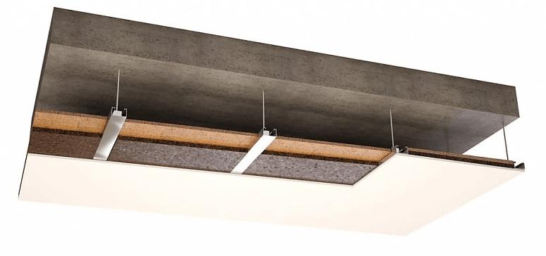 pose d'un panneau isolant corkoco faux plafond